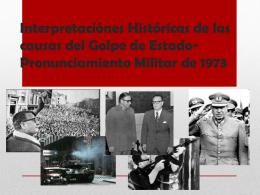 Interpretación del Gobierno Militar chileno entre