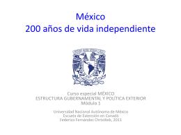 México 200 años de vida independiente