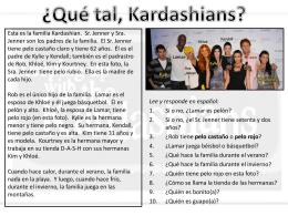Esta es la familia Kardashian. Sr. Jenner y Sra.