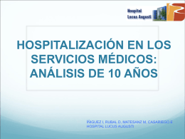 HOSPITALIZACIÓN EN LOS SERVICIOS MÉDICOS: ANÁLISIS
