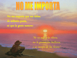 NO ME IMPORTA - telecable: TV