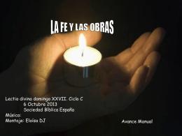 LA FE Y LAS OBRAS - Catequesis de Cádiz y Ceuta |