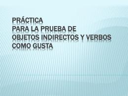 Práctica para la prueba de Objetos Indirectos y