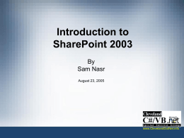 SharePoint 2003 and .Net