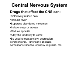 Central Nervous System - Southern Methodist