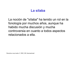 La sílaba - SIL International