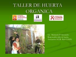 ¿Por qué hacer un taller de huerta orgánica?