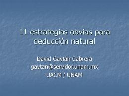 11 estrategias obvias para deducción natural