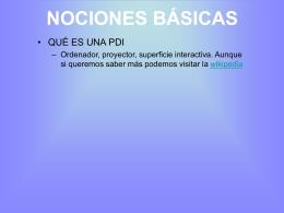 NOCIONES BÁSICAS - Vedoque