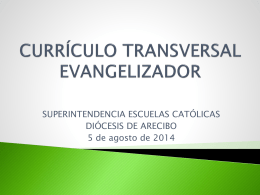 CURRÍCULO TRANSVERSAL - Recursos para Maestros