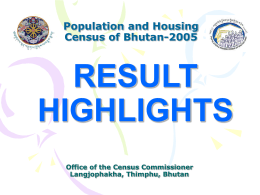 Population and Housing Census of Bhutan 2005