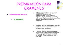 PREPARACIÓN PARA EXAMENES