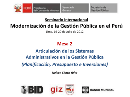 Seminario Internacional sobre Modernización de la