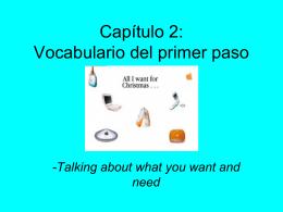 Capítulo 2: Vocabulario del primer paso