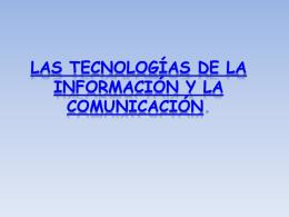 Las tecnólogias de la I