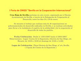 I Feria de ONGD `Sevilla en la Cooperación