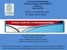 invitan a la conferencia del Dr. Edison Marín