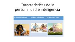 Características de la personalidad e inteligencia