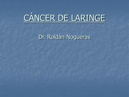 CÁNCER DE LARINGE - Medicordoba2007`s Blog