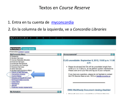 Textos en Course Reserve ( todavía no disponibles)