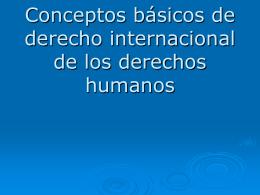 Conceptos básicos de derecho internacional de los