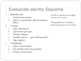 Evaluación escrita: Esquema
