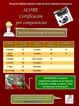 SCORE Certificación