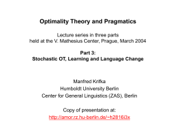 Optimality Theory and Pragmatics - hu