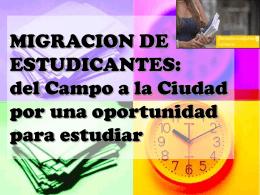 Migración de Estudiantes: del Campo a la Ciudad