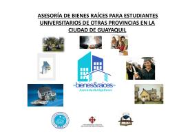 ASESORÍA DE BIENES RAÍCES PARA ESTUDIANTES