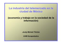 La industria del telemercado en la ciudad de