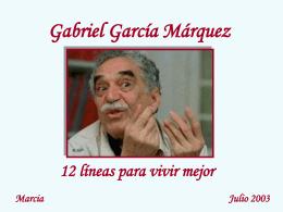 12 líneas para vivir de Gabriel García Márquez -