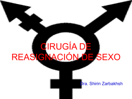 CIRUGÍA DE REASIGNACIÓN DE SEXO