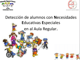 Detección de alumnos con Necesidades Educativas