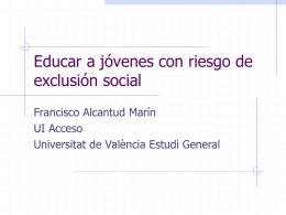 Educar a jóvenes con riesgo de exclusión social