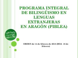 Programa integral de bilingüismo en lenguas