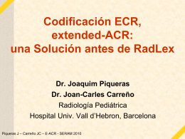Codificación ECR, extended-ACR: una solución antes