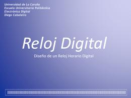 Reloj Digital - Página web de Diego Cabaleiro