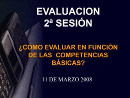 Evaluar competencias - CEP de Alcalá de Guadaíra -