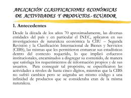 Aplicación Clasificaciones Económicas de