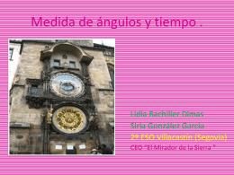 Medida de ángulos y tiempo