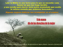 8 Marzo - Mujeres bíblicas