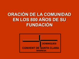ORACIÓN DE LA COMUNIDAD