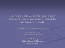 Programas y políticas de educación inicial: la