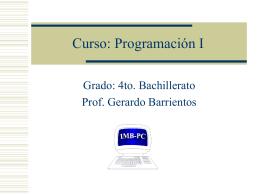 Curso: Programación I