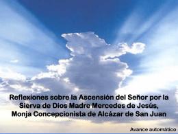 Reflexiones sobre la Ascensión del Señor por la