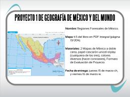 PROYECTO 1 DE GEOGRAFÍA DE MÉXICO Y DEL MUNDO