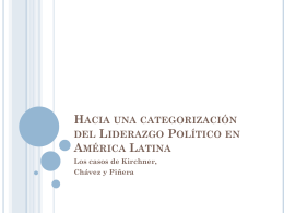 Hacia una categorización del Liderazgo Político