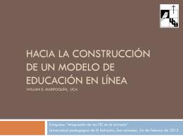 Hacia la construcción de un modelo de educación