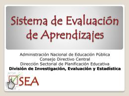 Hacia un sistema de evaluación de aprendizajes en
